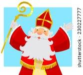 Cartoon Sinterklaas Or Saint...