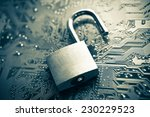 open security lock on computer... | Shutterstock . vector #230229523