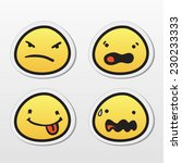 set of emoticons with different ... | Shutterstock .eps vector #230233333