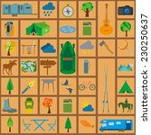set camping icon  hiking ... | Shutterstock .eps vector #230250637