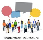 multiethnic colorful diverse... | Shutterstock . vector #230256073