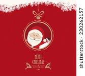 santa claus wave christmas ball ... | Shutterstock .eps vector #230262157