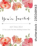 you're invited inviation with... | Shutterstock .eps vector #230268463