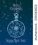 christmas card with happy new... | Shutterstock .eps vector #230283823