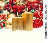christmas decoration with... | Shutterstock . vector #230287093