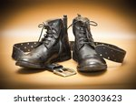 men's leather shoes and a... | Shutterstock . vector #230303623