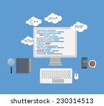 programming coding flat concept ... | Shutterstock .eps vector #230314513