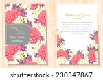 wedding invitation cards with... | Shutterstock .eps vector #230347867