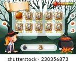 halloween game with elements... | Shutterstock .eps vector #230356873