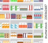 various pills and drugs for... | Shutterstock . vector #230362687