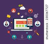 social network and teamwork... | Shutterstock .eps vector #230367727