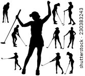 vector silhouette of the woman... | Shutterstock .eps vector #230383243
