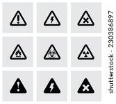 Vector Black Danger Icon Set O...