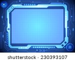 abstract computer technology... | Shutterstock .eps vector #230393107