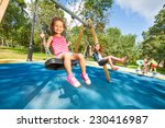 two beautiful little girls... | Shutterstock . vector #230416987