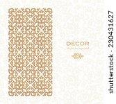 golden ornament. white... | Shutterstock .eps vector #230431627