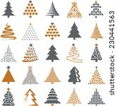 christmas tree icon collection  ... | Shutterstock .eps vector #230441563