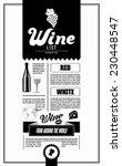 wine list. design template. | Shutterstock .eps vector #230448547