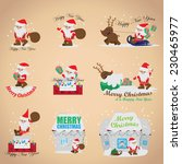 santa claus set   isolated on... | Shutterstock .eps vector #230465977
