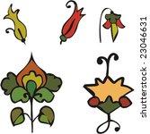 Vegetative element of design. Flower ornament