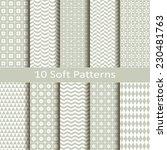 set of ten soft patterns | Shutterstock .eps vector #230481763