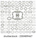 set of 90 vintage floral frames.... | Shutterstock .eps vector #230489467