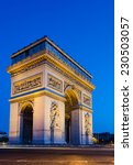 the arc de triomphe in paris at ... | Shutterstock . vector #230503057