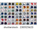 collection of american football ... | Shutterstock .eps vector #230525623