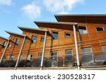 exterior of a wooden terraced...   Shutterstock . vector #230528317