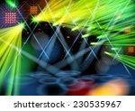illuminated empty stage. light...   Shutterstock .eps vector #230535967