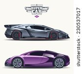super car design concept.... | Shutterstock .eps vector #230537017