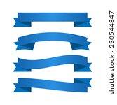 blue ribbons | Shutterstock .eps vector #230544847