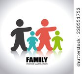 family design over white... | Shutterstock .eps vector #230551753