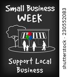 small business week chalk board ... | Shutterstock .eps vector #230552083