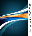 eps10 vector elegant blue wave... | Shutterstock .eps vector #230555587