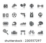 sport competition icons | Shutterstock .eps vector #230557297