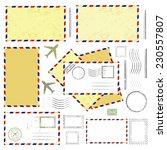 air mail envelopes  postal... | Shutterstock .eps vector #230557807