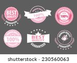 set of premium quality and... | Shutterstock .eps vector #230560063