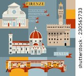 sights of florence. italy ... | Shutterstock .eps vector #230565733