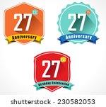 27 year birthday celebration... | Shutterstock .eps vector #230582053