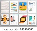 set of flyer  brochure design...   Shutterstock .eps vector #230594083