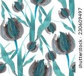 elegant seamless pattern with... | Shutterstock .eps vector #230609497