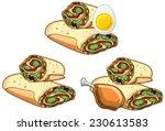 fast food   rolls set | Shutterstock .eps vector #230613583