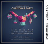 christmas party invitation card. | Shutterstock .eps vector #230635477