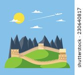 flat design great wall of china ... | Shutterstock .eps vector #230640817