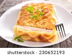 Pastry With Cheese And Ham