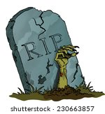 tombstone with zombie hand  ... | Shutterstock .eps vector #230663857
