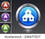 school on blue round button | Shutterstock .eps vector #230677027
