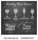 happy hour hand drawn design on ...