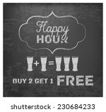 Happy Hour Hand Drawn Design O...